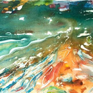 Saunton Sands Beach Huts Painting