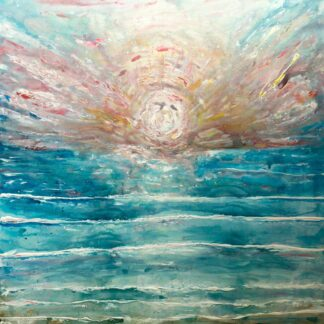 very large sunset painting