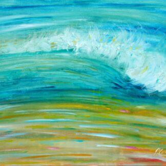Putsborough beach waves painting