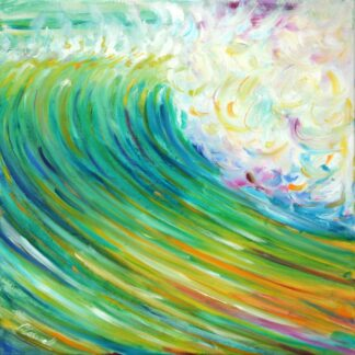 surf ocean wave croyde painting