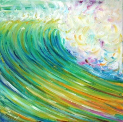 surf ocean wave croyde painting