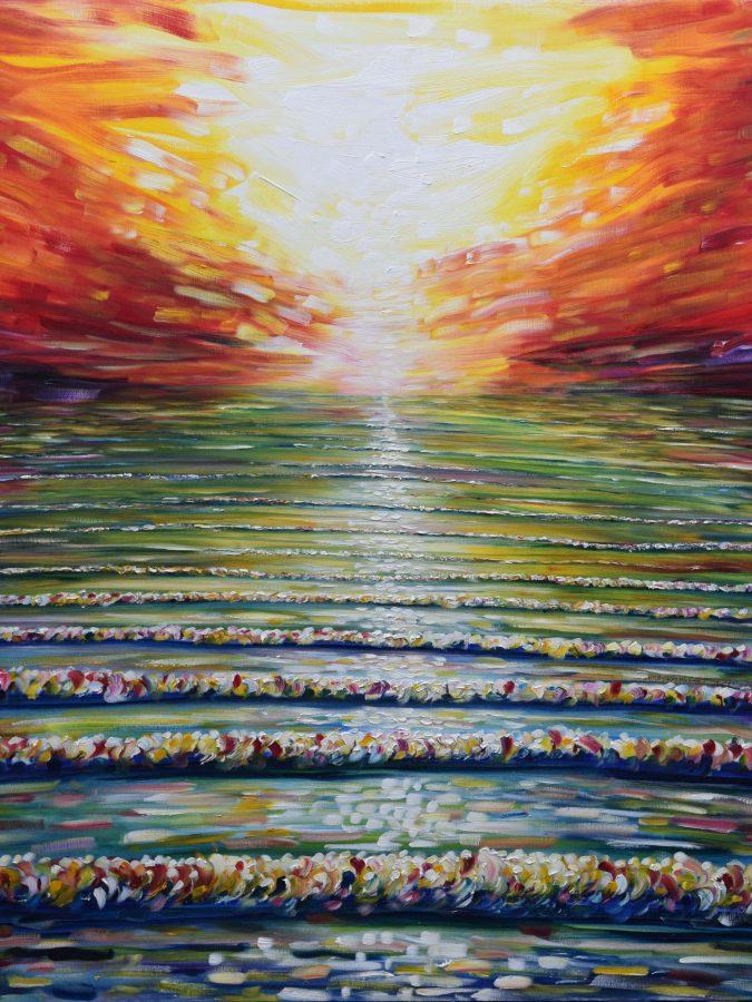 Ocean Sunset Print For Sale