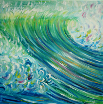 Croyde ocean wave for surfing