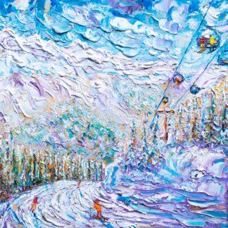 Argentiere Ski Print