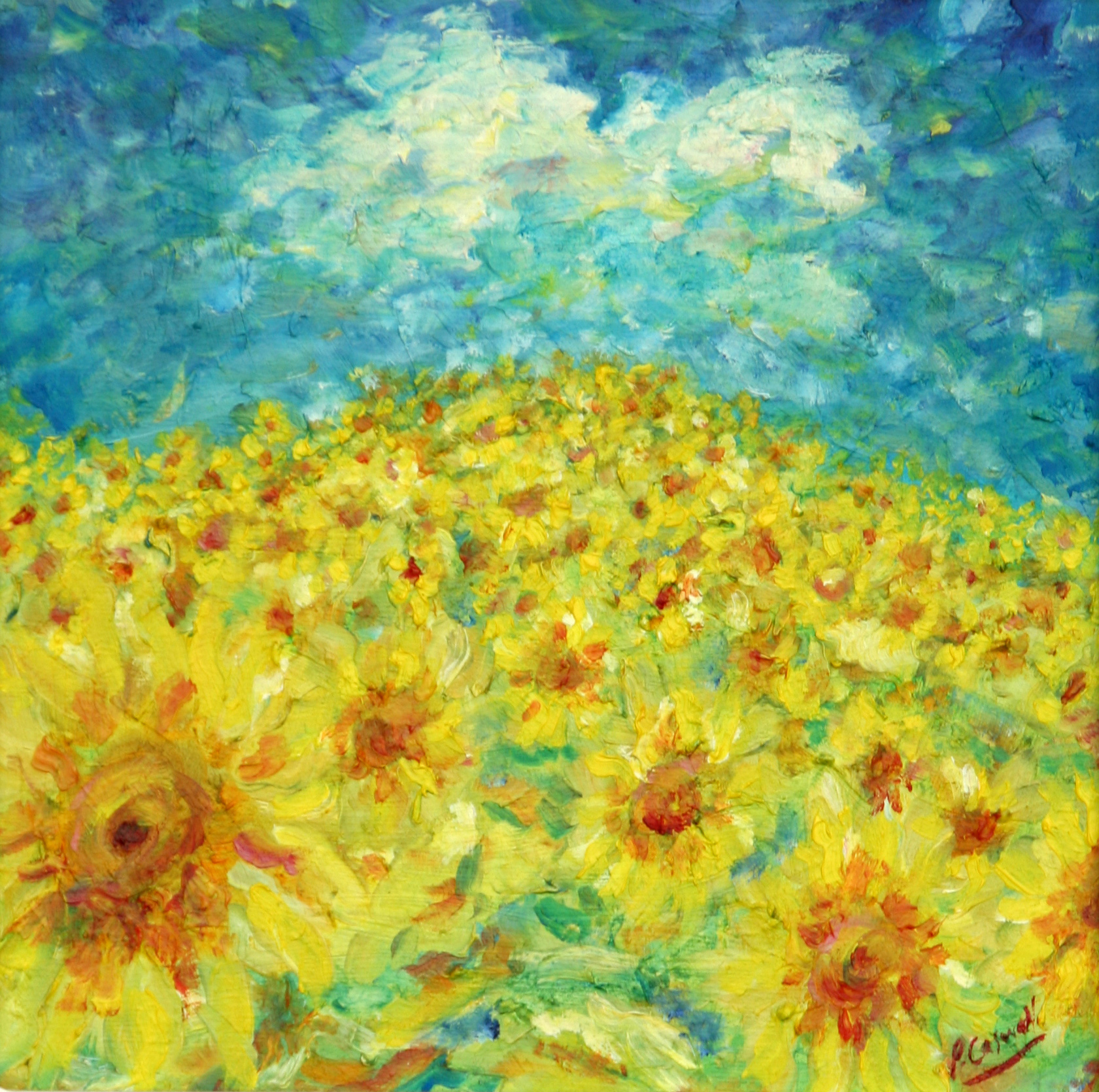 Sunflower Painting For Sale
