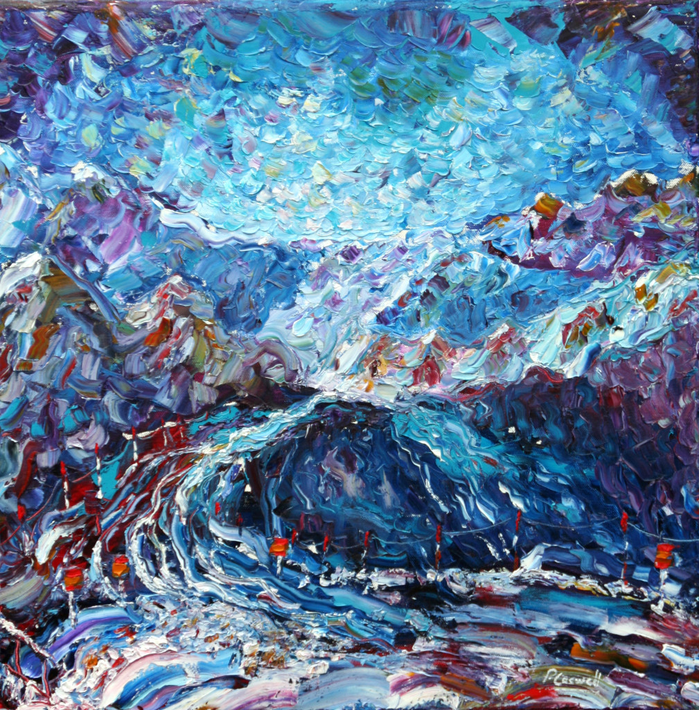 Snowboard painting for sale Mt Fort verbier