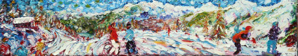 Ski painting for sale Verbier