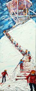 Verbier Mt Fort Painting