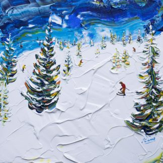 Les Houches Chamonix Ski Painting