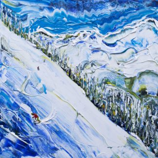 Argentiere Ski Painting
