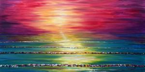 Sunset ocean painting for sale Saunton Sands