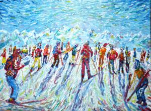 Grande Motte Ski Painting Tignes Val d'Isere