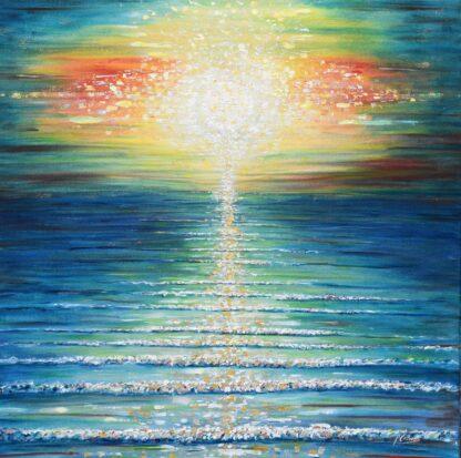 Sunset painting from South West England, Saunton, Croyde,Woolacombe, Putsborough