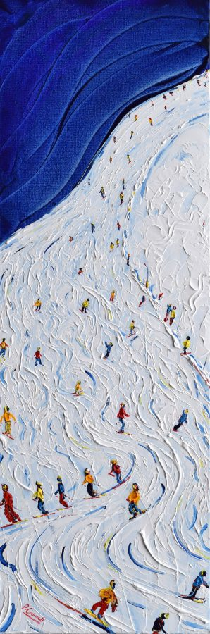 Tignes Skiing Snowboarding Painting For Sale