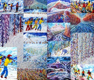 Skiing Snowboarding Painting Exhibition 2015