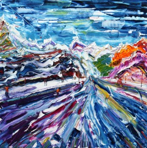 Zermatt skiing paintings for sale