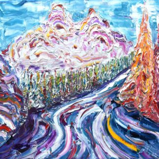 Meribel Skiing painting for sale