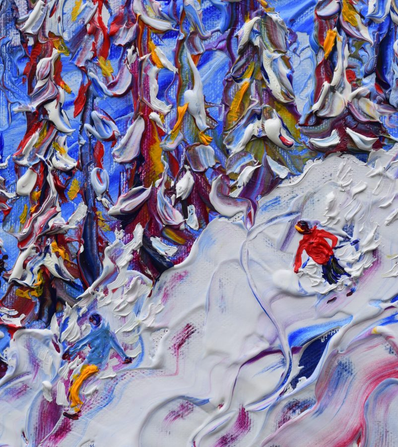 Morzine Avoriaz Les Gets Prints of skiing paintings for sale