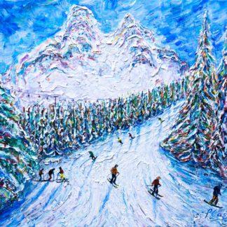Meribel Ski Painting 3 valleys