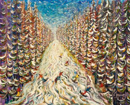 Courchevel Meribel Ski Painting