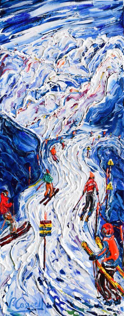 Verbier Mt Fort Ski Painting