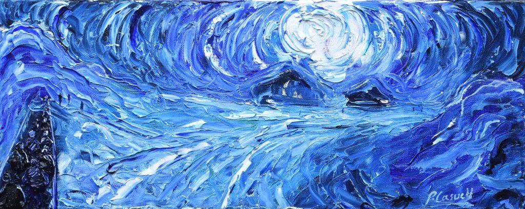 Val Thorens Ski Snowboard painting