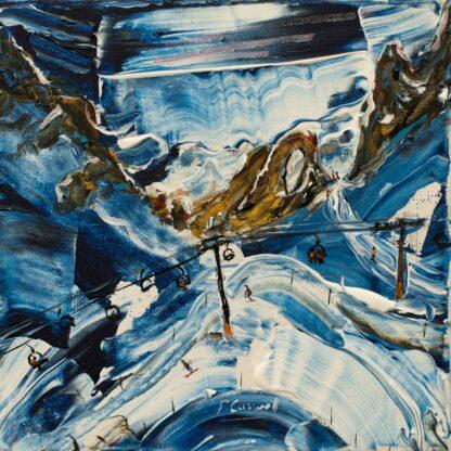 Tignes Val d'Isere Ski Snowboard painting and ski print