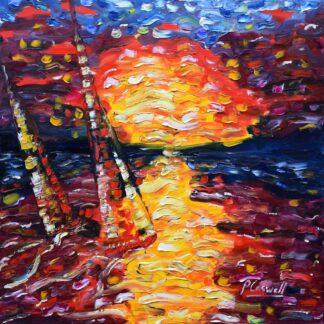Sailing Painting For Sale British Virgin Islands BVI