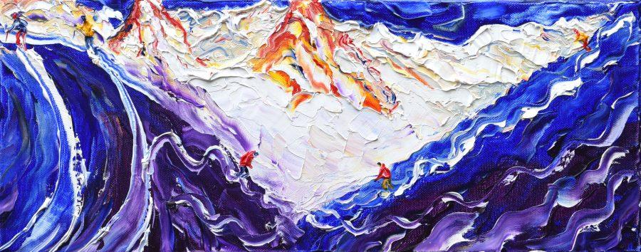 Valluga St Anton Off Piste Skiing Painting