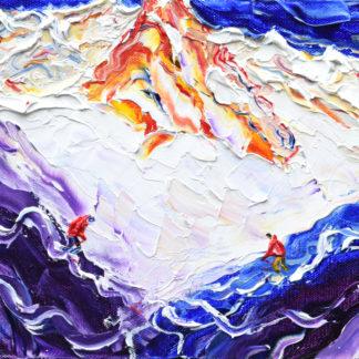 St Anton Valluga Off Piste Ski Painting