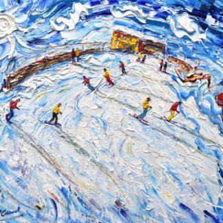 St Anton Ski Painting