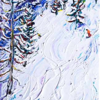Les Arcs 1800 Ski Painting