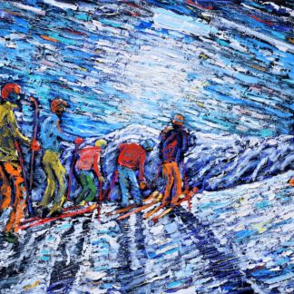 Val d'Isere Skiing Painting