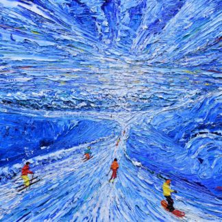 Meribel Ski Painting