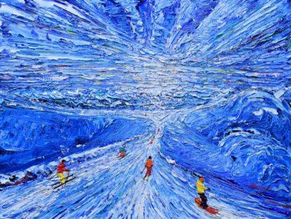 Meribel Ski Painting