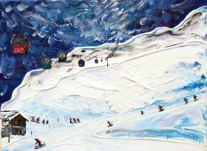 Meribel Ski Poster and Ski Print
