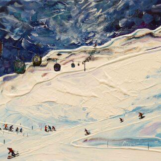 Meribel Gondola Ski Painting
