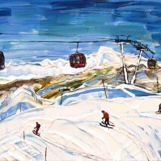 Meribel Ski Print and Painting
