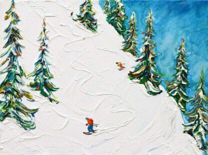 Les Gets Morzine off piste ski painting