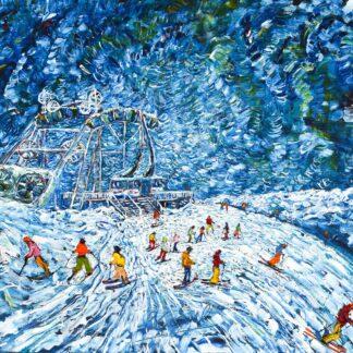 Tignes ski painting