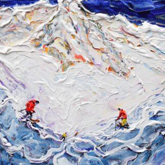St Anton Off Piste Ski Painting and Ski Print
