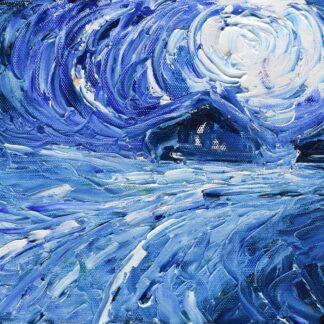 Val Thorens Ski Painting and Ski Print
