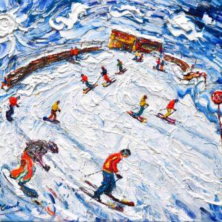 St Anton Ski Painting and Ski Print