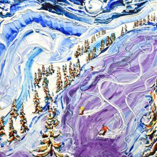 Les Arcs Off Piste Ski Poster and Ski Painting