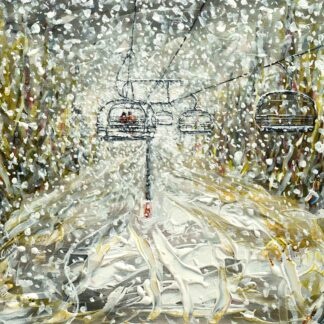 Morzine and Avoriaz Ski Painting and Ski Poster