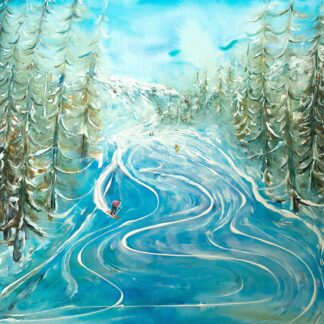 St Moritz Ski Painting Ski Poster