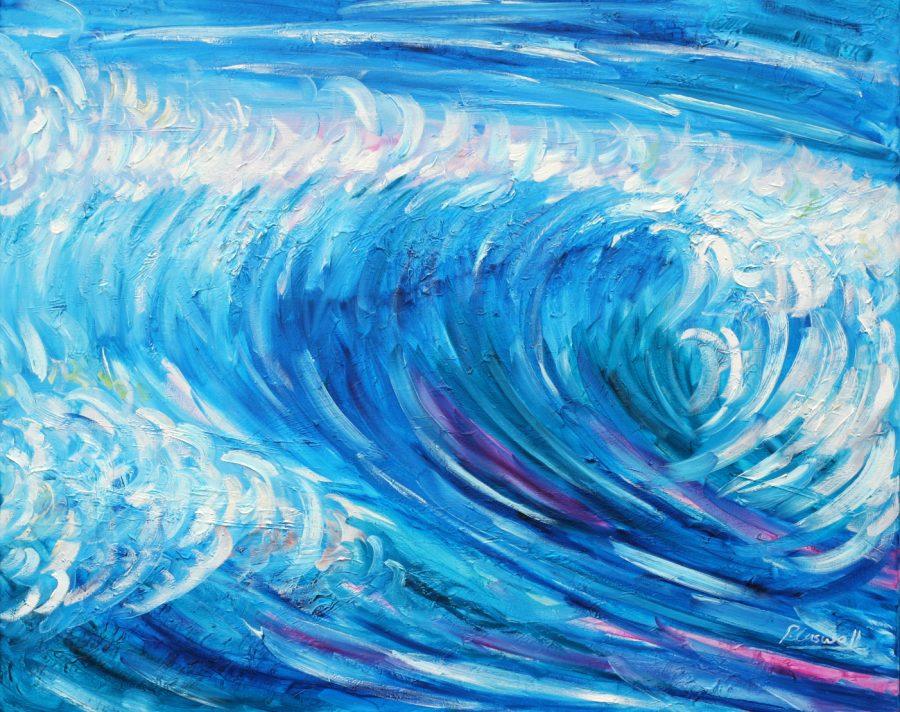 Croyde wave painting