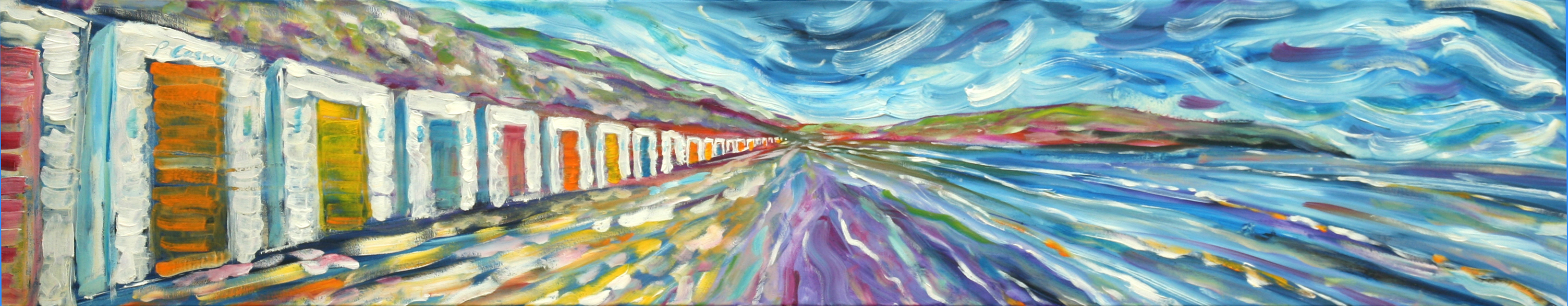 Woolacombe Beach Huts Paintings