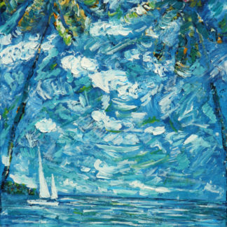 Antigua Sailing Painting Caribbean Curtain Bluff Resort