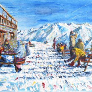 Val d'Isere Ski Painting